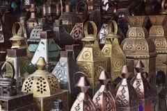 Traditionella glass och metalllampor Fotografering för Bildbyråer