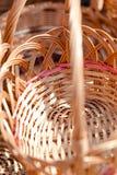 Traditionella handgjorda vävde vide- korgar Royaltyfri Fotografi