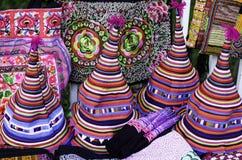 Traditionella hattar i Chiang Mai Royaltyfri Foto
