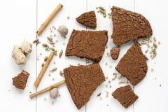 Traditionella holländska kakor - Speculaasbrokken arkivfoto