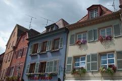 Traditionella hus i Colmar Royaltyfri Fotografi