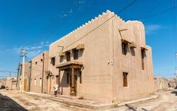 Traditionella hus på den Itchan Kala fästningen i den historiska mitten av Khiva UNESCOvärldsarv i Uzbekistan Arkivbild