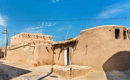 Traditionella hus på den Itchan Kala fästningen i den historiska mitten av Khiva UNESCOvärldsarv i Uzbekistan Arkivfoton
