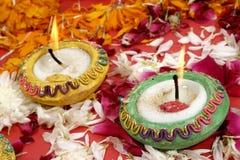 traditionella indiska lampor för diwali Royaltyfria Foton