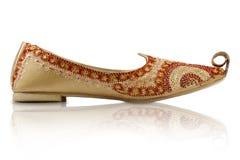 traditionella indiska skor för hemslöjd Arkivfoton