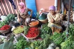 Traditionella indonesiska köpmän Arkivfoton