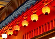 Traditionella japanska lyktor Royaltyfri Bild