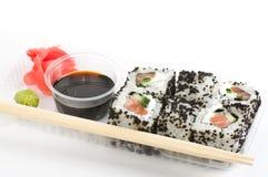 Traditionella japanska matSushi. Arkivfoton
