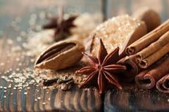 Traditionella julkryddor, matbakgrund Royaltyfri Foto
