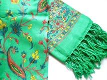 Traditionella Kashmiri Shawl Arkivfoton