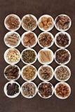 Traditionella kinesiska örtar Royaltyfri Fotografi