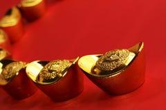 traditionella kinesiska guldtackor Arkivbilder