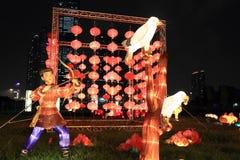 Traditionella kinesiska lyktor, Hong Kong arkivbild