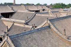 Traditionella kinesiska tak arkivfoton