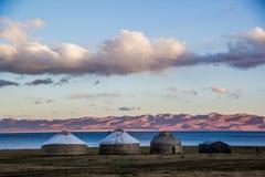 Traditionella Kirgiz Yourts Arkivfoton
