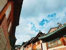 Traditionella koreanhus Royaltyfria Foton