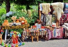Traditionella krukmakeri och filtar Royaltyfri Bild