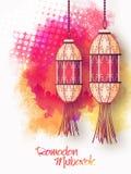 Traditionella lampor för Ramadanberöm royaltyfri illustrationer