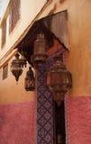 Traditionella lampor morocco Royaltyfri Fotografi