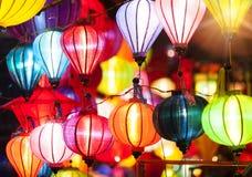 Traditionella lyktor i Vietnam Royaltyfria Bilder