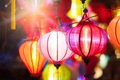 Traditionella lyktor i Vietnam Royaltyfri Foto