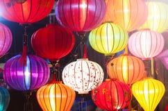 Traditionella lyktor i Vietnam Fotografering för Bildbyråer