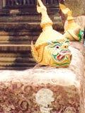 Traditionella maskeringar Ankor Wat Cambodia Royaltyfria Foton