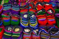 Traditionella mayan textiler Arkivbilder