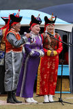 Traditionella mongoliska sångare Royaltyfri Foto
