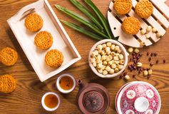 traditionella mooncakes Royaltyfria Bilder