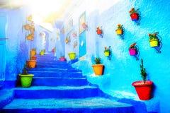 Traditionella moroccan arkitektoniska detaljer i Chefchaouen, Moroc Royaltyfria Bilder
