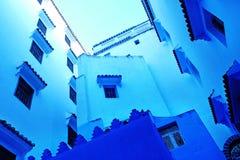 Traditionella moroccan arkitektoniska detaljer i Chefchaouen, Moroc Arkivbild