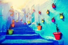 Traditionella moroccan arkitektoniska detaljer i Chefchaouen, Moroc Royaltyfri Foto