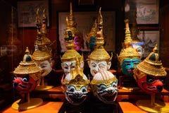 Traditionella och klassiska thailändska maskeringar (Khon maskeringar) Arkivbild