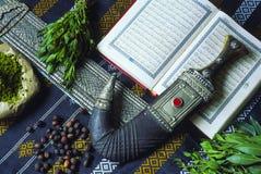 Traditionella och typiska jemenitiska objekt arkivbild