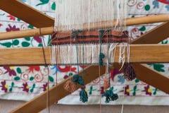 traditionella orientaliska filtar, mattor med rotert och naturligt D för hand Arkivbild