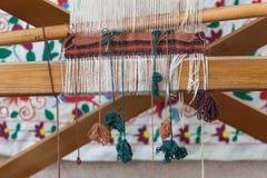 traditionella orientaliska filtar, mattor med rotert och naturligt D för hand Royaltyfria Foton