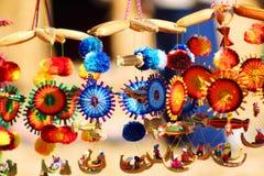 Traditionella peruanska handgjorda hantverk i Puno Peru Fotografering för Bildbyråer