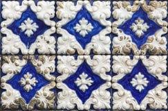 Traditionella portugisiska azulejotegelplattor på byggnaden i Porto, P Fotografering för Bildbyråer