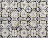 Traditionella portugisiska keramiska tegelplattor, modell royaltyfria foton