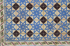 Traditionella portugistegelplattor Arkivbilder
