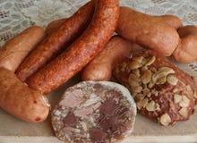Traditionella rökte köttprodukter Royaltyfri Bild