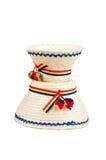 Traditionella rumänska hattar som göras av sugrör, närmare detalj för den nordliga delen av landet Maramures Royaltyfri Fotografi