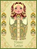 Traditionella ryska dockor för matryoshka (matrioshka) Fotografering för Bildbyråer