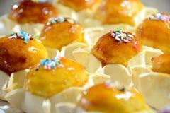 Traditionella sötsaker för Sardinia påsk Arkivfoto