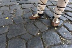 Traditionella sandaler för Bulgarien fotografering för bildbyråer
