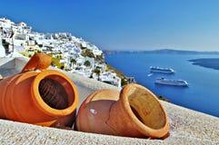 Traditionella Santorini Arkivbilder