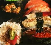 traditionella set sushi för japan Royaltyfri Bild