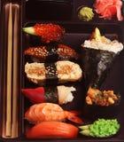 traditionella set sushi för japan Royaltyfri Fotografi