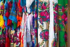 Traditionella sjalar, Zakopane, Polen royaltyfri foto